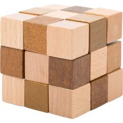 Dřevěný hlavolam - kostka
