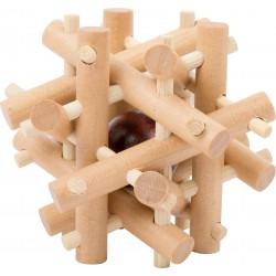 Dřevěný hlavolam - tyčky