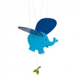 Létající závěsná dekorace Modré slůně
