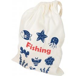Chytání rybiček v pytlíku