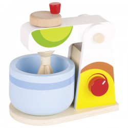 Dřevěný mixér barevný