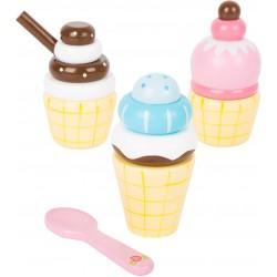 Small Foot Dřevěný zmrzlinový set