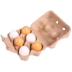 Dřevěné vajíčka v krabičce 6 ks