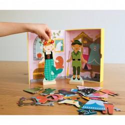 Magnetické puzzle - Pohádkové postavy