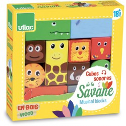 Dřevěné zvukové kostky Savana