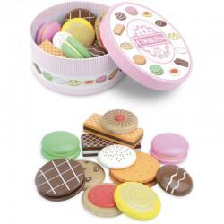 Dřevěná krabička sušenek
