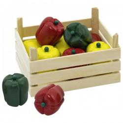 Paprika v dřevěné přepravce, 10 ks