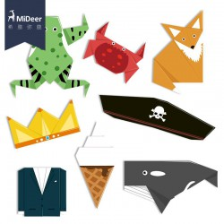 MiDeer Origami Zvířata