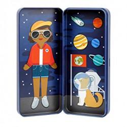 Magnetické puzzle Kosmonautka