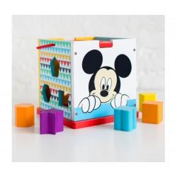 Disney Dřevěná kostka s tvary Mickey Mouse