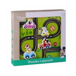 Disney Dřevěný motorický labyrint Mickeyho svět