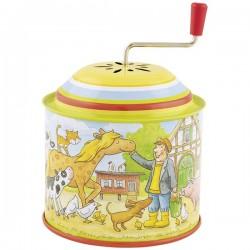 Hrací skříňka s kličkou Farma