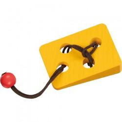 Hlavolam ze dřeva - sýr