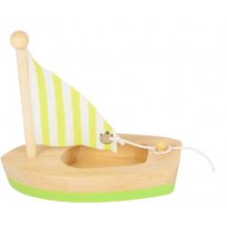 Small Foot Vodní hračka plachetnice - žlutá
