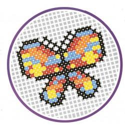 Vyšívání křížkovým stehem - Motýl