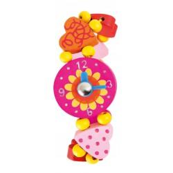 Small Foot Dřevěné hodinky princess - Srdíčko