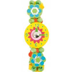 Small Foot Dřevěné hodinky princess - Květinka